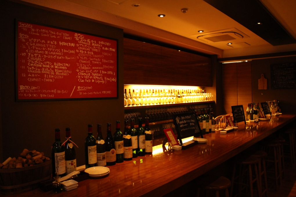 「五反田でちょっといいワインを気軽に飲める」
